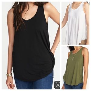 Lot of 3 Old Navy Lux swing tank tops large